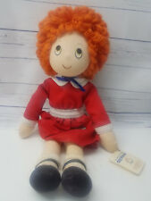 "Vingtage 1982 Applause Annie Doll With Tags 16"" Stuffed Plush"