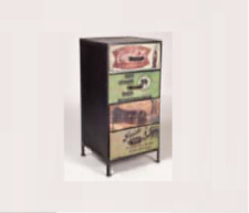 mueble aparador comoda o vitrina  vintage industrial de madera maciza
