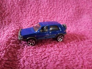 Matchbox - 1-125 - Unboxed - #99 '90 Volkswagen Golf Country - Blue