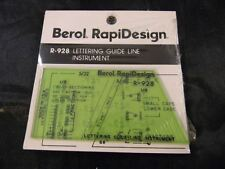 Berol Template -Lettering guide line instrument  R-928