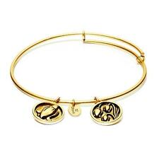 Chrysalis Lily of the Valley Expandable Bangle in 14k Gold Plate, CRBT0205GPSML
