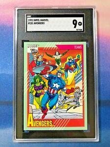 1991 Marvel Universe #151 Avengers SGC 9 MINT Low Pop PSA 9?