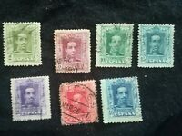 lot N°116 7 timbres ESPAGNE années 20 entre N°310 et 323