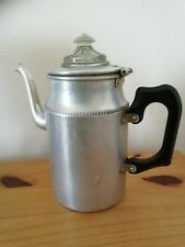 More details for vintage retro aluminium stove top coffee percolator