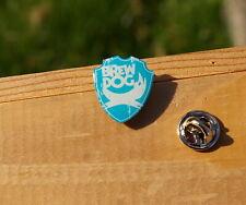 """Brew Dog Logo Scottish Craft Beer Metal & Blue Enamel 7/8"""" Pin Pinback"""