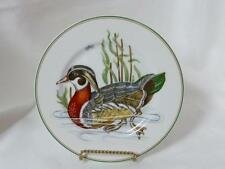 "Fitz & Floyd Canard Sauvage Salad Plate Orange Wood Duck 7-5/8"" Made in Japan"