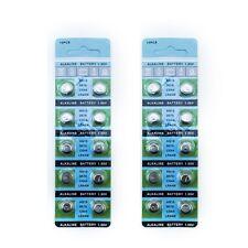 20 X Ag13 Lr44 Sr44 L1154 357 A76 Alcalina Botón / moneda células baterías postales del Reino Unido