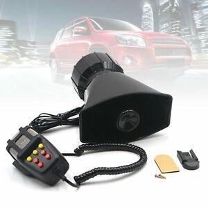 100W 12V 115DB Car Police Fire Alarm Siren Horn Warning Loud Speaker With Mic UK