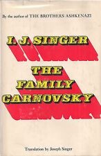 """ISAAC BASHEVIS SINGER """"The Family Carnovsky"""" (1969) Hardcover in Dust Jacket"""