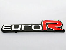 Euro R emblem logo badge sicker decal For Honda ACCORD Civic Acura RSX