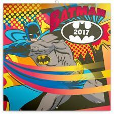 BATMAN CARTOON CLASSIC 2017 UK SQUARE WALL CALENDAR NEW SALE !! SALE !!