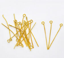 New 400PCs Gold Plated Eye Pins 35x0.7mm(21 gauge)