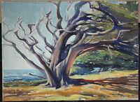 CALIFORNIA COASTAL LANDSCAPE WATERCOLOR BY STEPHEN THOMAS HENNESSY