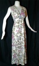 1970s Vintage SHIMMERY METALLIC FLORAL Boho at the Disco PARTY MAXI  DRESS