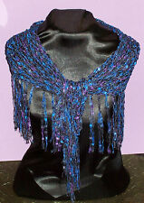 Dressy Shawlette -Purple/Black- Shawl - Perfect for Parties and the Holidays!