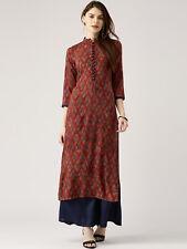 Indian Kurta With Palazzo Set Kurti Women's Dress Top Tunic Pant Bottom Combo S