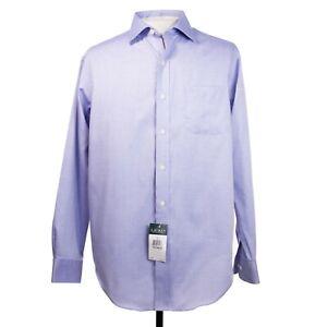 NWT Lauren Ralph Lauren Mens 16 x 34/35 Blue Classic Fit Non Iron Dress Shirt