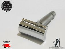 Sword Edge heavy duty Slanted Head Double Edge safety razor 150 grams. + Blades