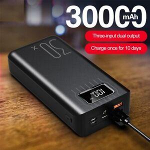 30000mAh Type C Micro USB Powerbank Fast Charging LED Display Portable powerbank