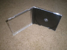 LOT OF 100 REPLACEMENT STANDARD CD JEWEL CASES WITH BLACK INSIDE DISC TRAYS
