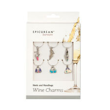 More details for epicurean wine glass charms heels and handbags novelty barware gift drinks party