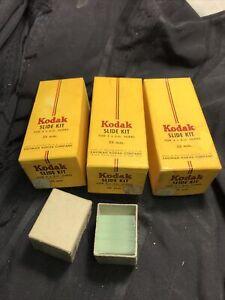 (3) Boxes Vintage Kodak Slide Kit -with Glass  Great Vintage Photo Slide Pieces