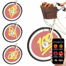 Swaglight Quad Bluetooth Bicycle Spoke Lights w/ App & Alarm 376 LED Display