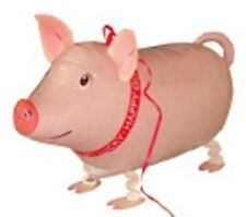PIG PINK WALKING BALLOON FOIL HELIUM PET BIRTHDAY AIRWALKER FARM ZOO AIR BARN