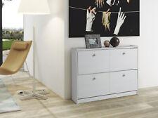 Zapatero de 2 Trampones en color blanco lavado serie Tabac