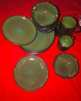 Home trends rave green dinnerware set
