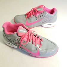 Nike Air Speed Lax 4 Turf Lacrosse 616301-006 Cleats Shoes Gray Pink Size 11.5