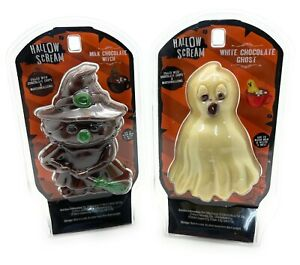2x Halloween Hot Chocolate Bomb Melting Witch& Ghost With Marshmallow & Choc Chi