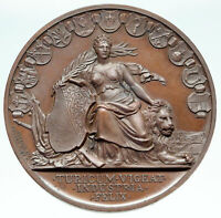 1768 SWITZERLAND Swiss Canton ZURICH Shooting Festival WOMAN & LION Medal i86545