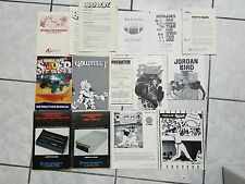 LOT of Commodore 64 COMPUTER 14 Manuals Gauntlet Double Dragon Paperboy 803 1541