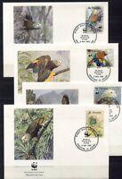 S3737) st Vincent 1989 MNH Wwf, Birds 4v FDC