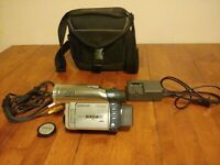 Hitachi Dz-mv380a Dvd Cam Camcorder With Carrying Case Charger And AV Cords