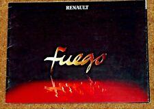 1980-82 RENAULT FUEGO Sales Brochure - TL TS GTS TX GTX Auto