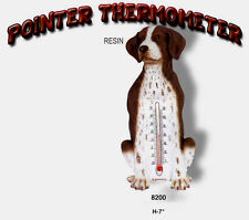 Pointer Dog Stone Wall / Garden Thermometer New Usa Only