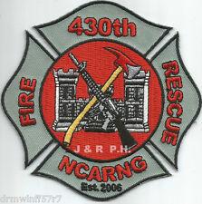 "430th - A.N.G. - C.F.R., North Carolina (4"" x 4"" size) fire patch"