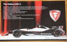 2014 Firestone Dallara DW12 Indy 500 Indy Car postcard