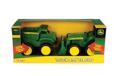 "NEW John Deere 6"" Sandbox Vehicle 2 Piece Set Truck & Tractor 18m+ (TBEK35874)"