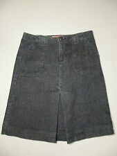 LUX Denim Skirt by Urban Outfitters Front Pleat Dark Wash Sz 3 Measures 29 x19.5