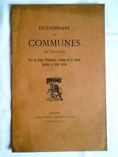 LIVRET ANCIEN DICTIONNAIRE DES COMMUNES DU VAUCLUSE