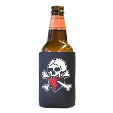Skull and Red Heart Pirate Beer Pop Soda Can Koozie Koolie Cooler Insulator