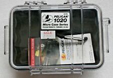 NEW PELICAN 1020 Micro Case w/ rubber Liner and Carabiner Clear/Black