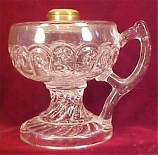Antique Kerosene Lamp King Comet Finger Eapg Early American Pattern Glass As Is