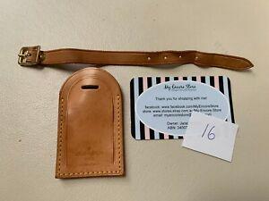 LOUIS VUITTON Vachetta Leather Luggage Tag 9cm x 5cm [md 16