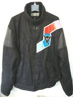 Dainese Racing Motorcycle Jacket Leather Arms Black Euro Size 52 US 42 LARGE XL