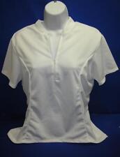 BDI Women's Classic Cycling Short Sleeve Jersey, White, Medium
