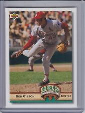 BOB GIBSON 1992 Upper Deck Heroes Highlights #HI4 (C9296)